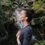 woman practicing mindfulness